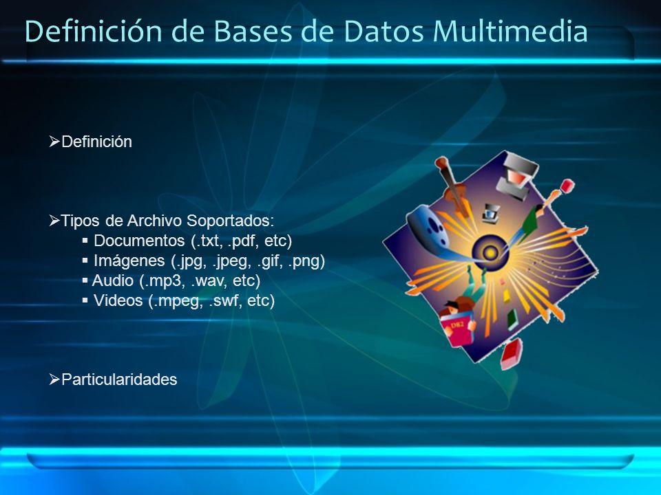 Definición de Bases de Datos Multimedia