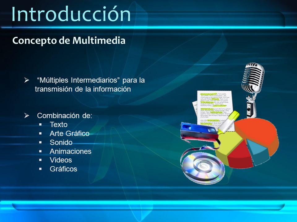 Introducción Concepto de Multimedia