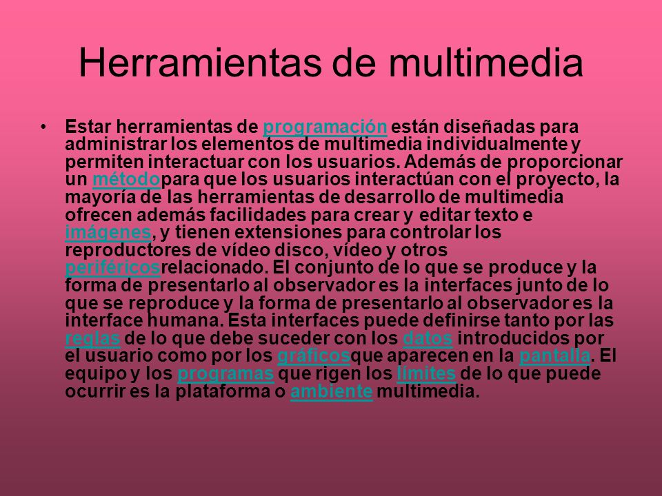 Herramientas de multimedia