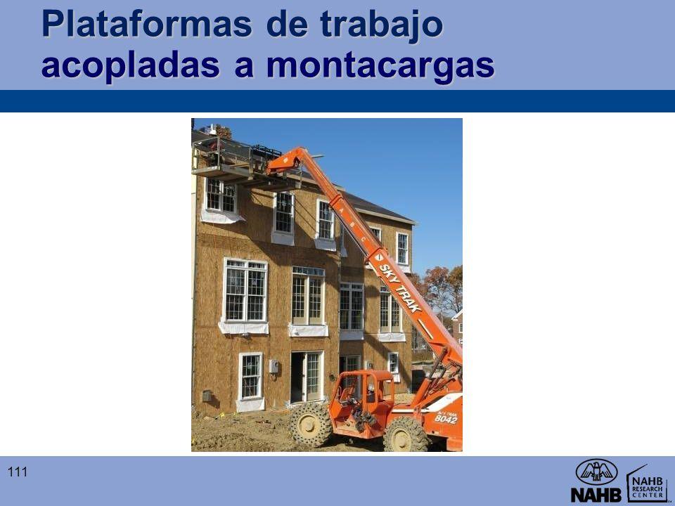 Plataformas de trabajo acopladas a montacargas