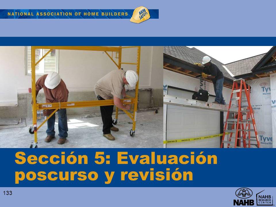 Sección 5: Evaluación poscurso y revisión