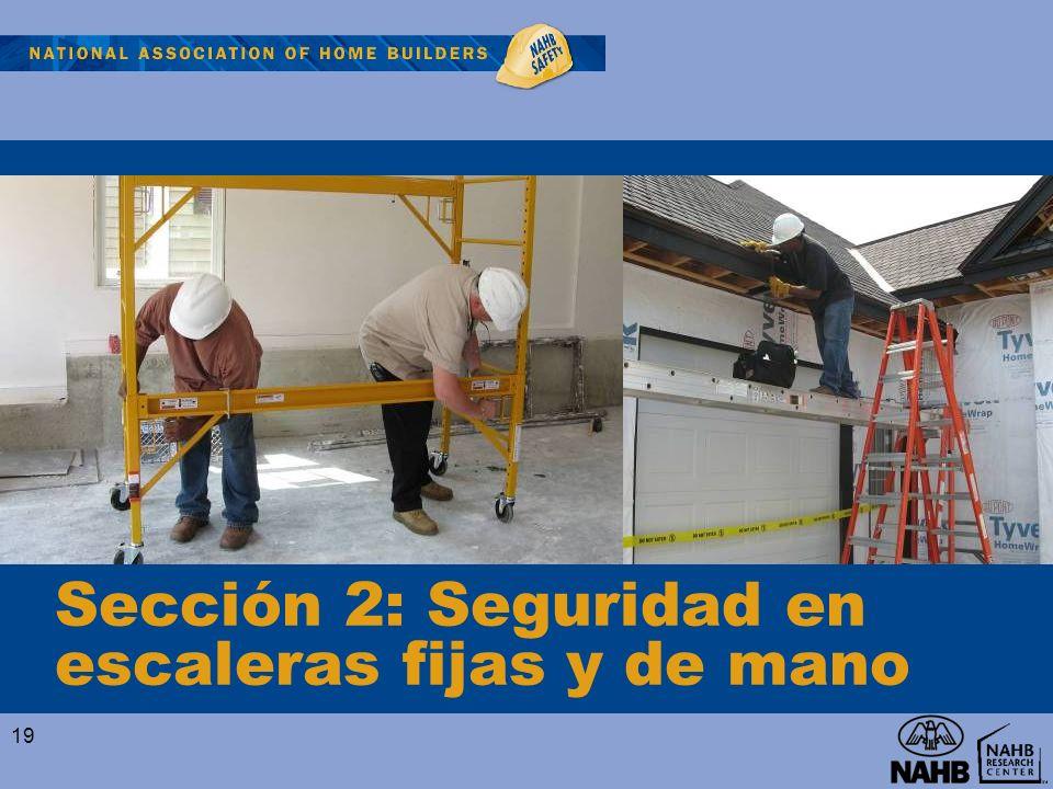 Sección 2: Seguridad en escaleras fijas y de mano