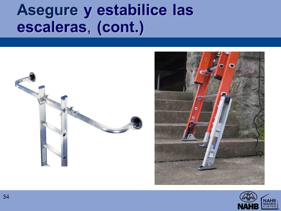 Asegure y estabilice las escaleras, (cont.)