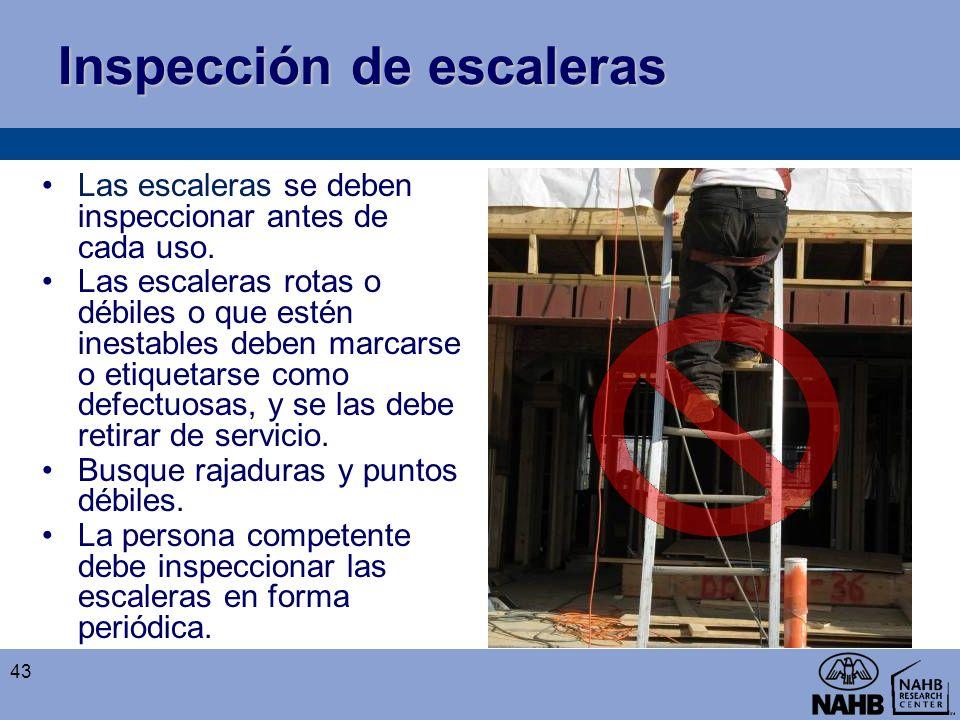 Inspección de escaleras