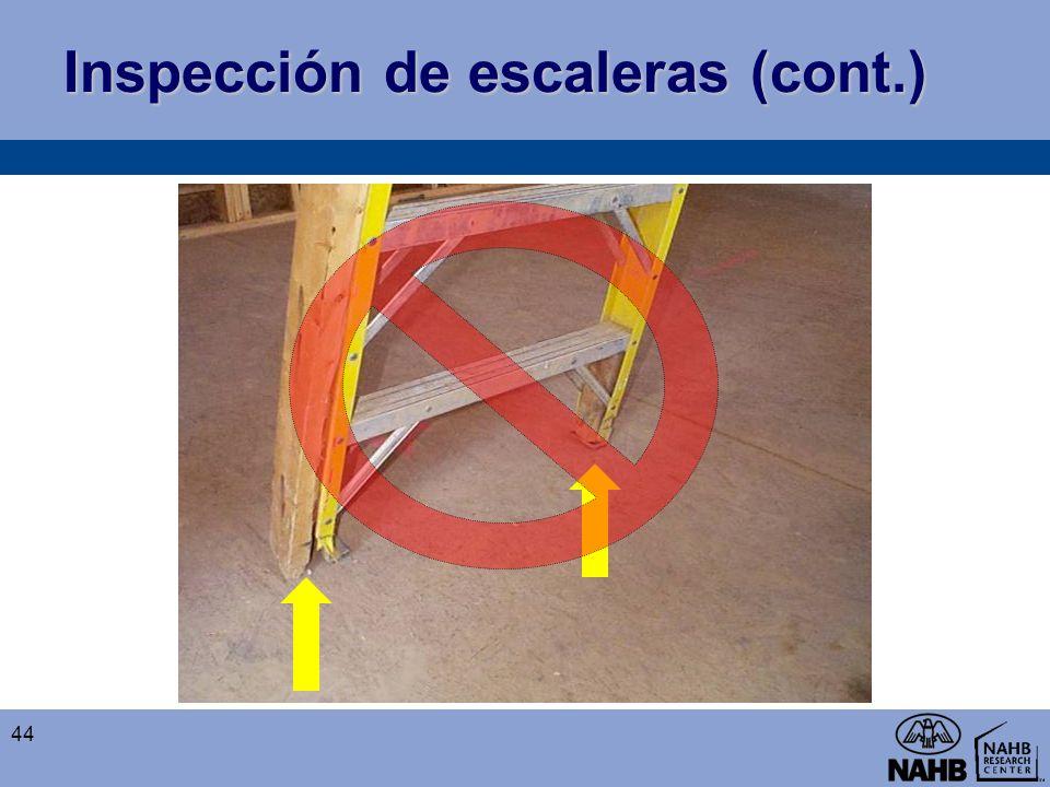 Inspección de escaleras (cont.)