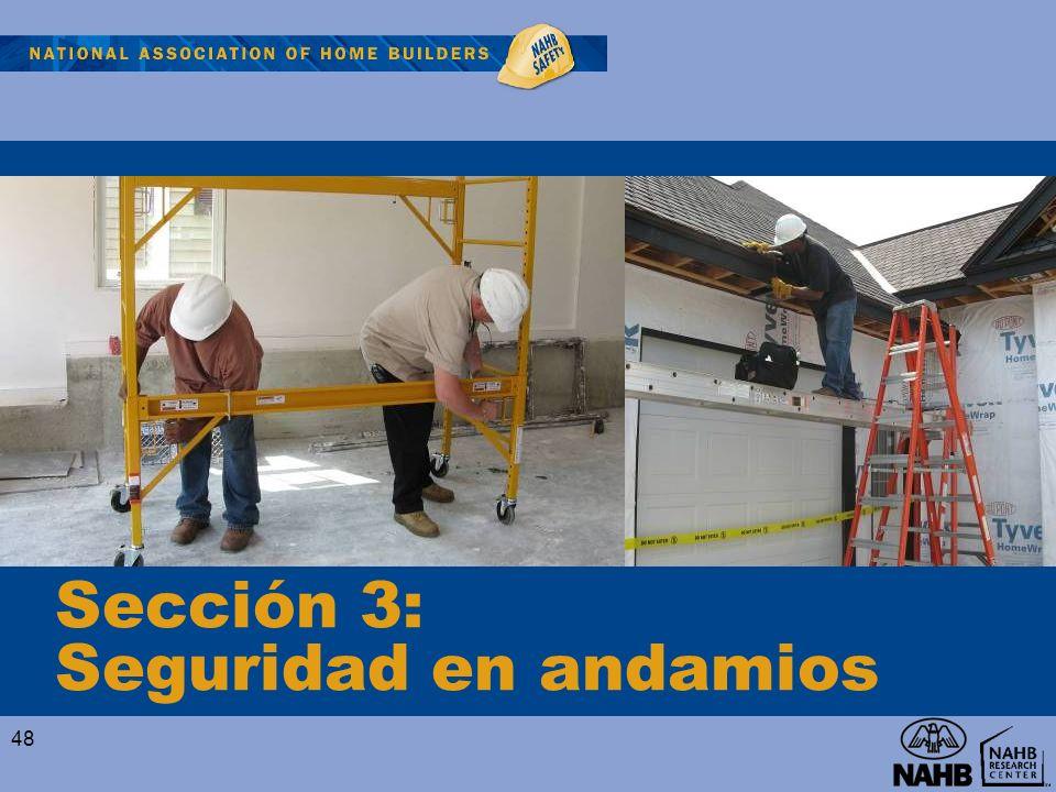 Sección 3: Seguridad en andamios