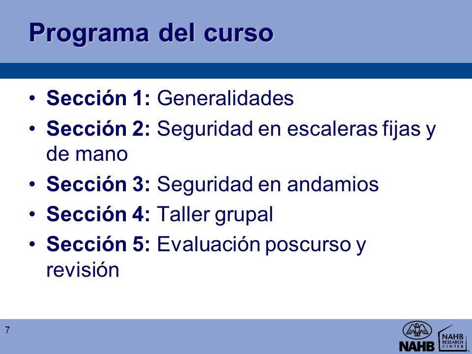 Programa del curso Sección 1: Generalidades