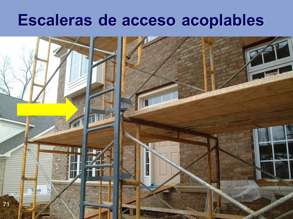 Escaleras de acceso acoplables