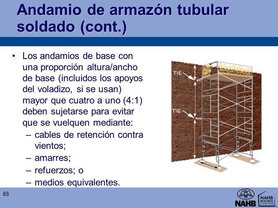 Andamio de armazón tubular soldado (cont.)