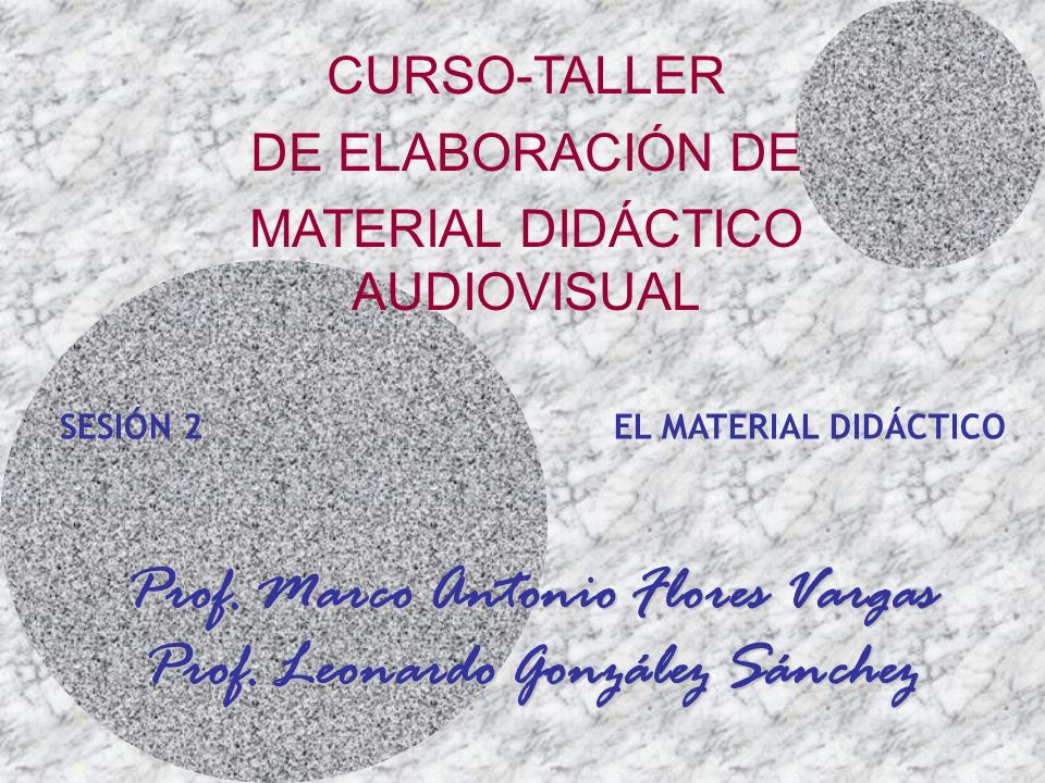 Prof. Marco Antonio Flores Vargas Prof. Leonardo González Sánchez