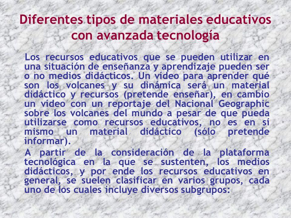 Diferentes tipos de materiales educativos con avanzada tecnología