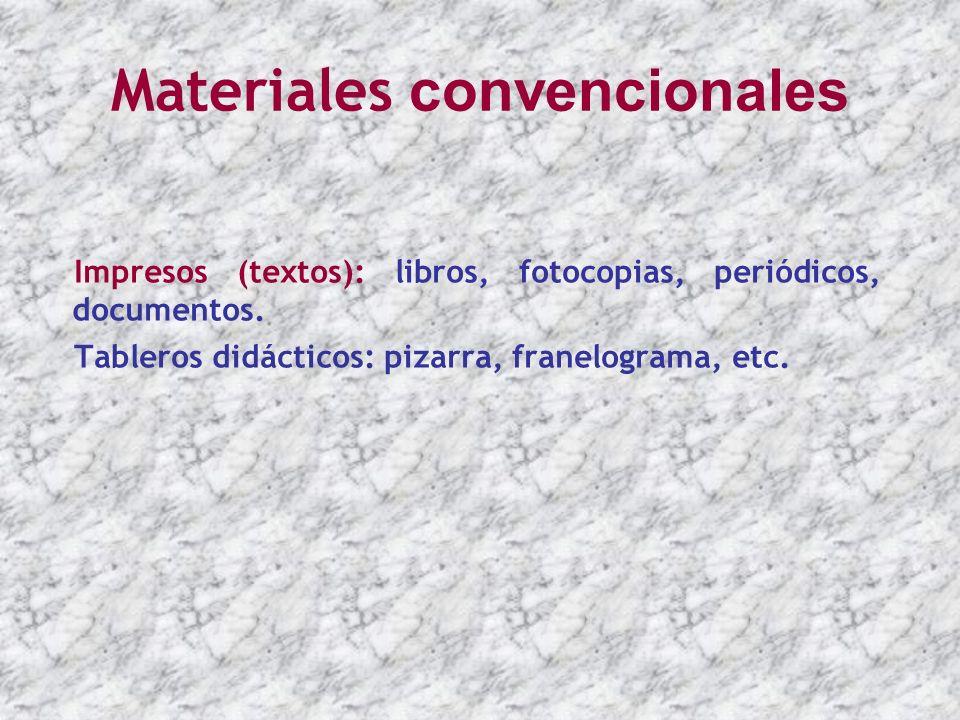 Materiales convencionales
