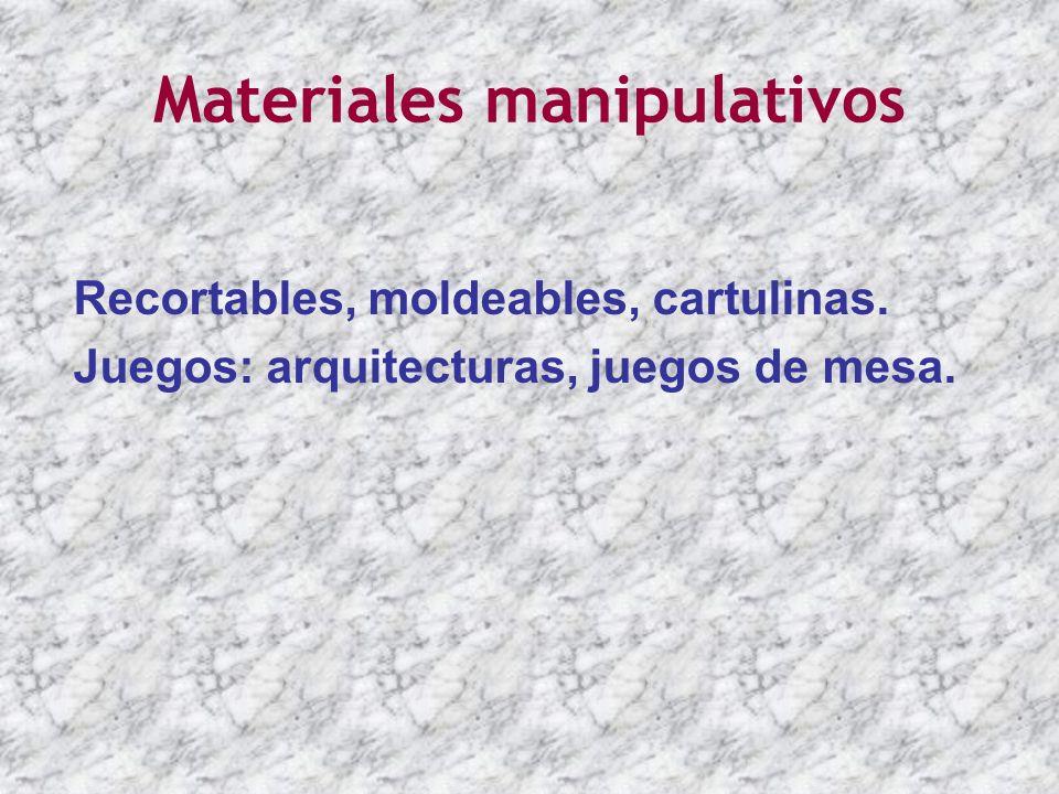 Materiales manipulativos