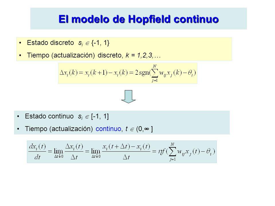 El modelo de Hopfield continuo