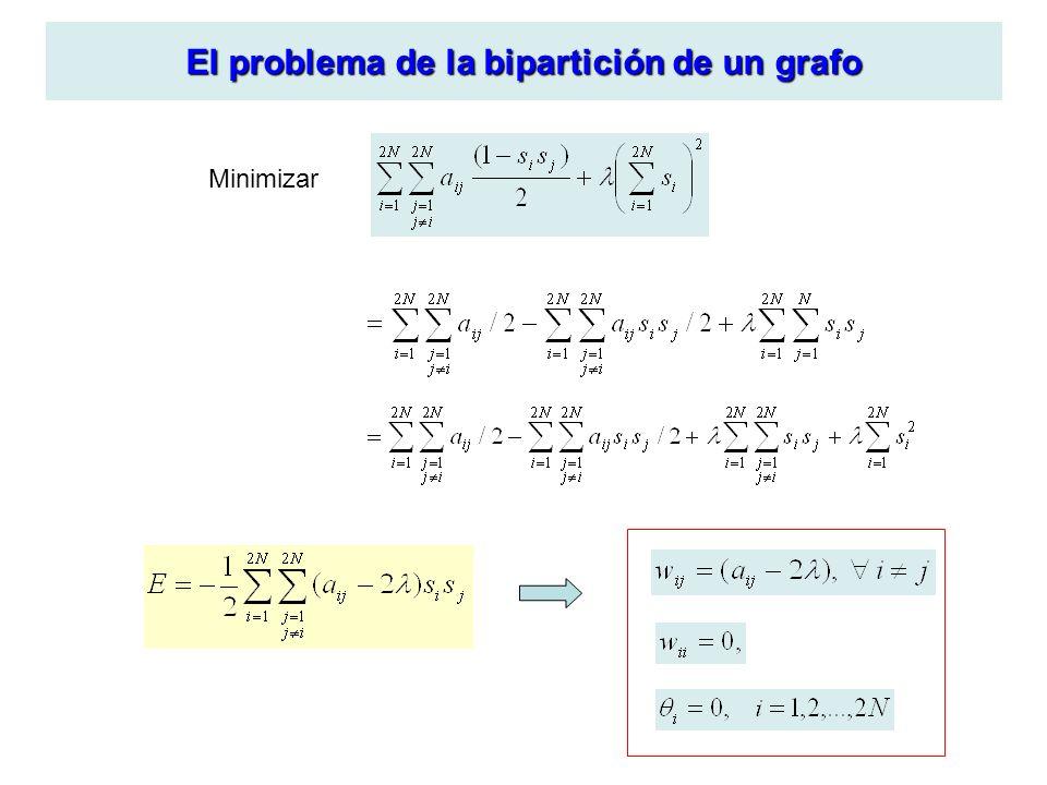 El problema de la bipartición de un grafo