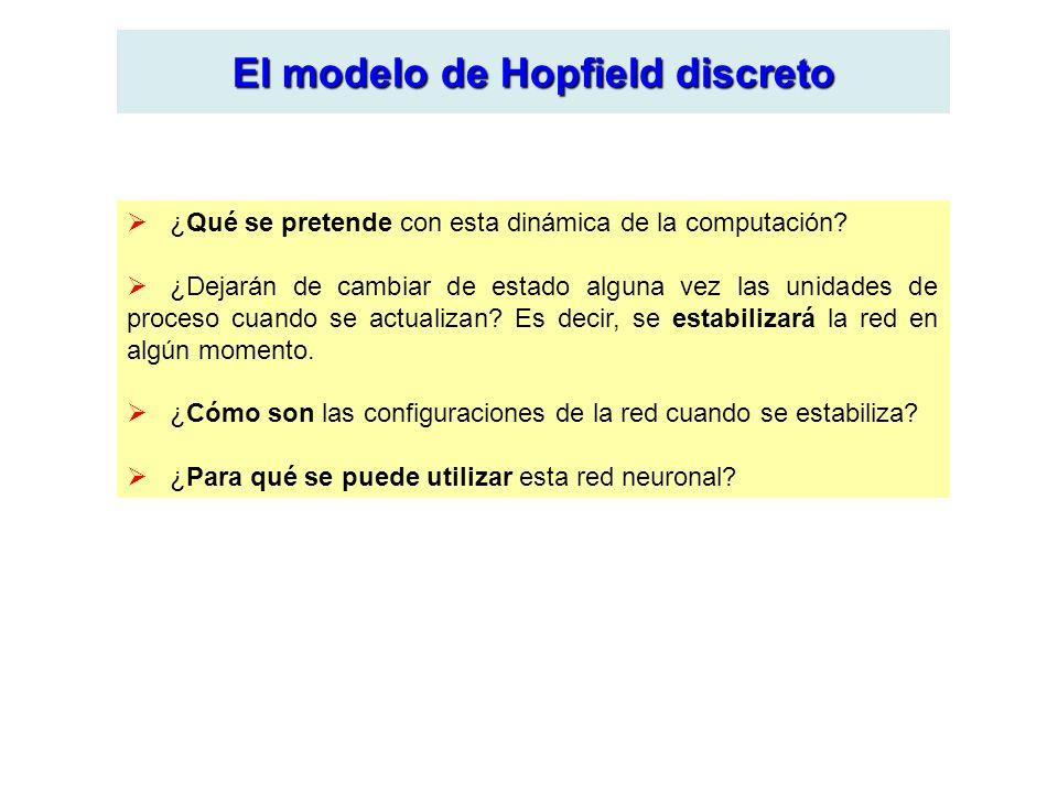 El modelo de Hopfield discreto