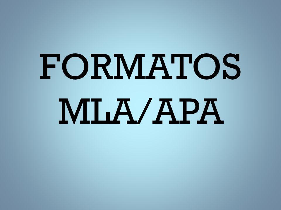 FORMATOS MLA/APA