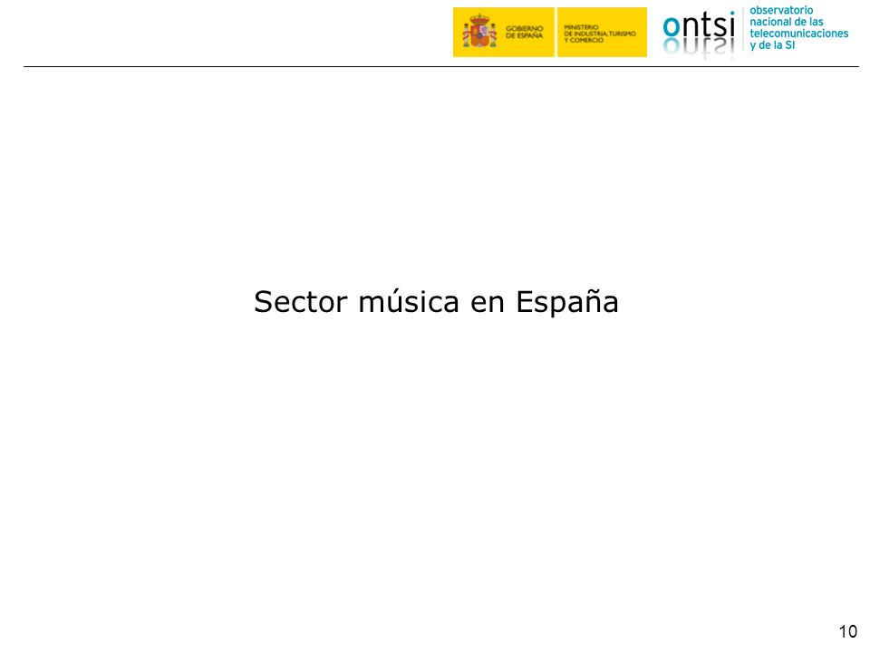 Sector música en España