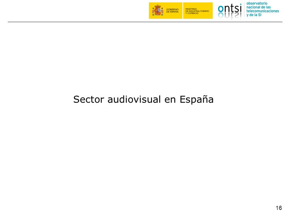 Sector audiovisual en España