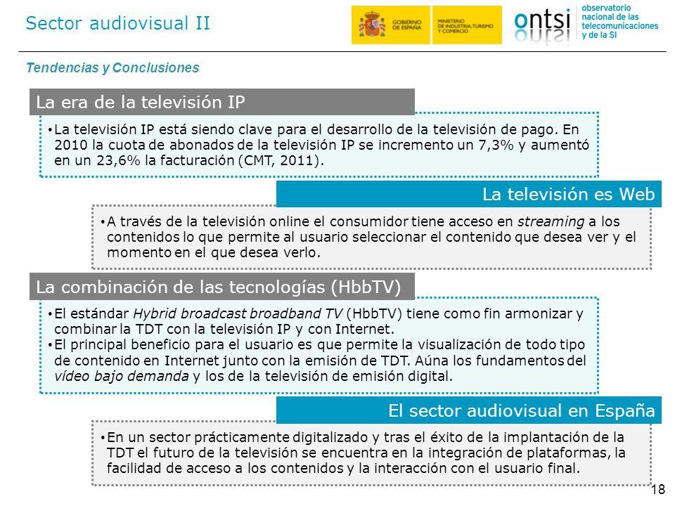 Sector audiovisual II La era de la televisión IP La televisión es Web
