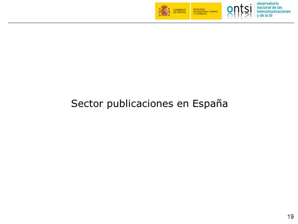Sector publicaciones en España