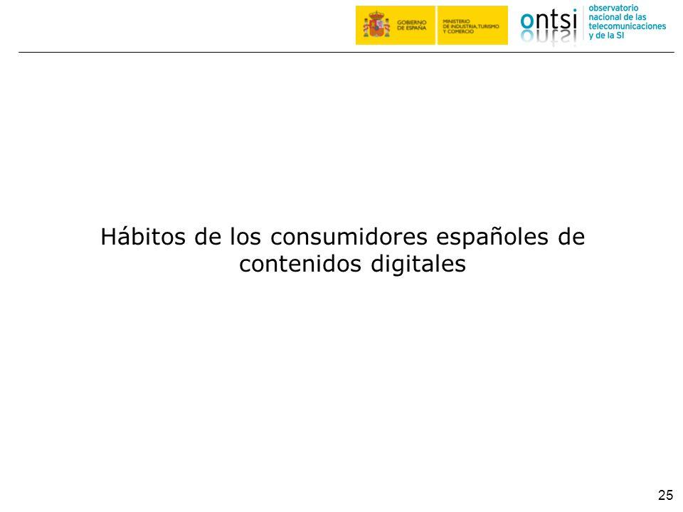 Hábitos de los consumidores españoles de contenidos digitales