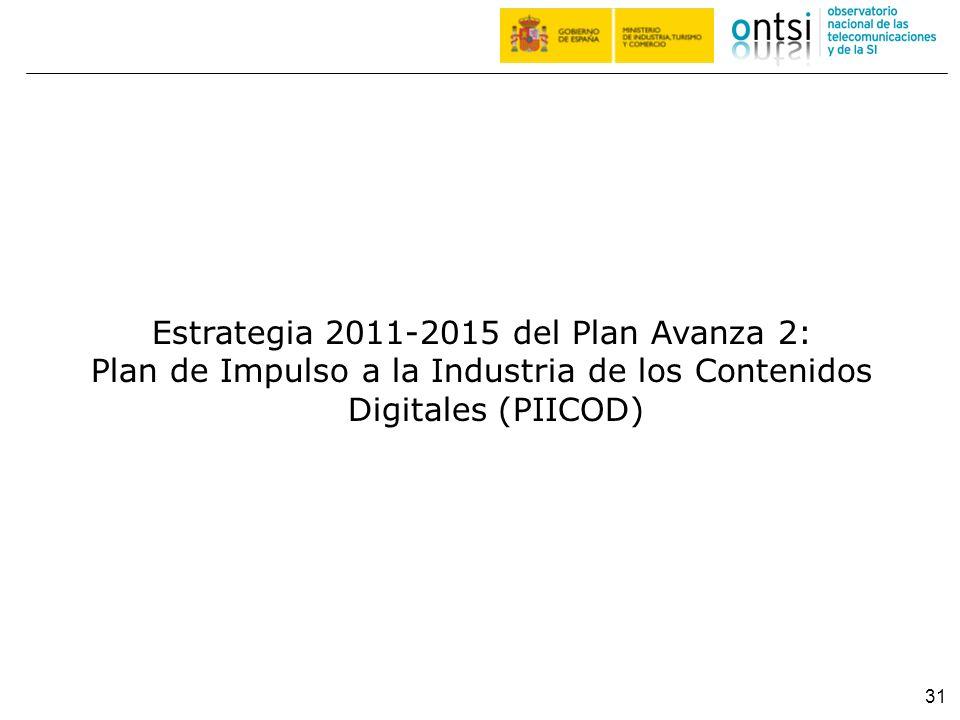 Estrategia 2011-2015 del Plan Avanza 2: