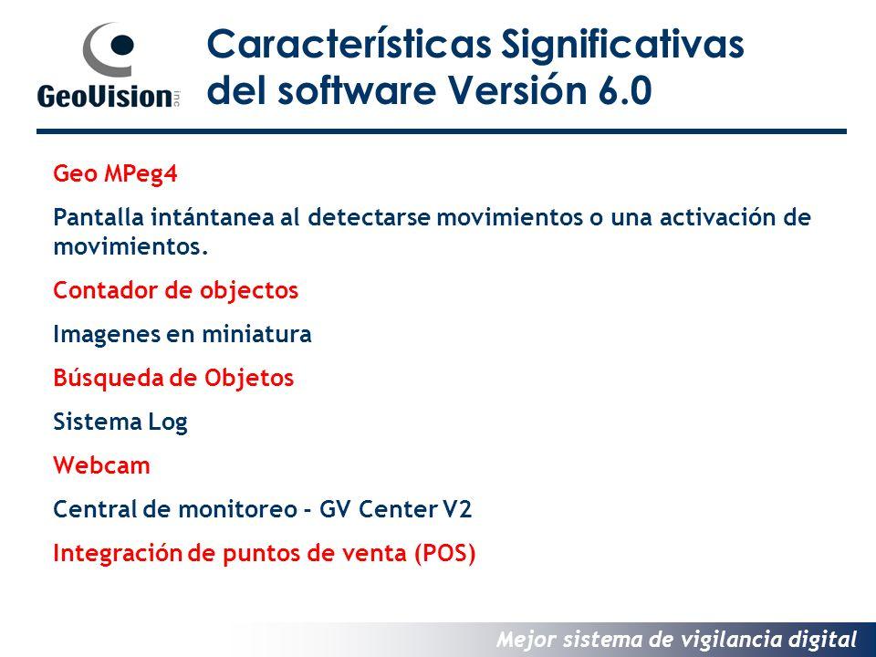 Características Significativas del software Versión 6.0