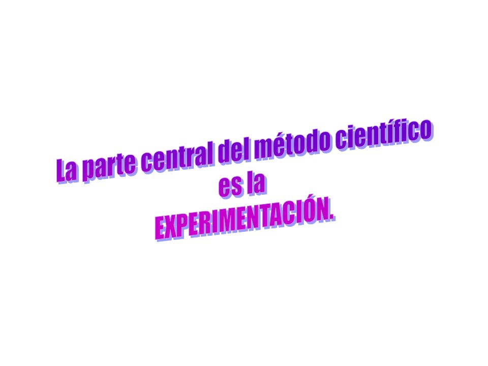 La parte central del método científico