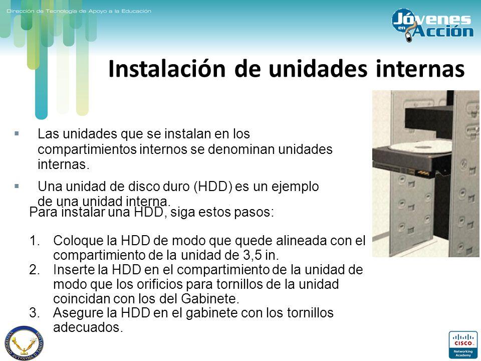Instalación de unidades internas