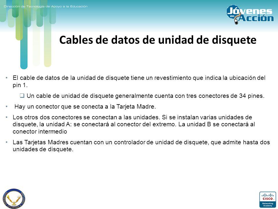 Cables de datos de unidad de disquete