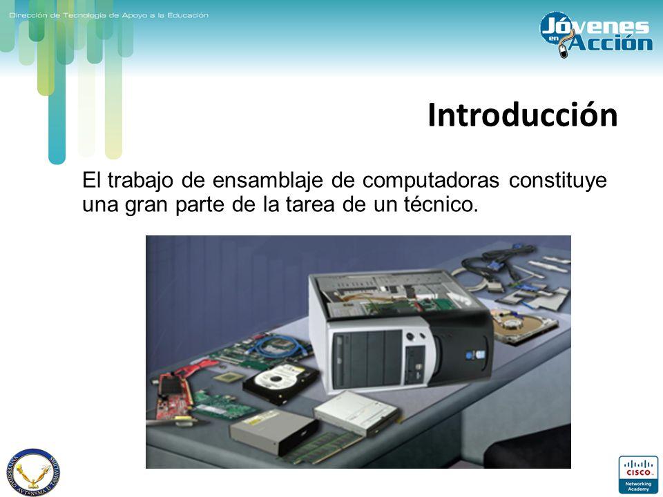 Introducción El trabajo de ensamblaje de computadoras constituye una gran parte de la tarea de un técnico.