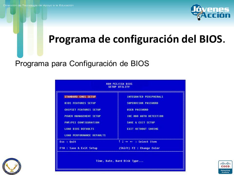 Programa de configuración del BIOS.