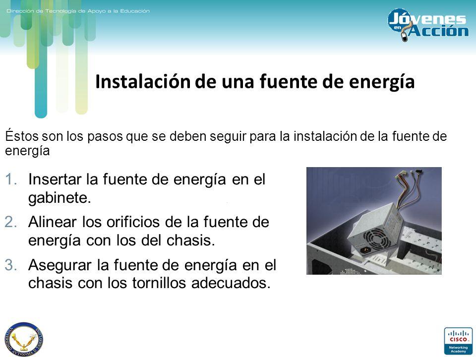 Instalación de una fuente de energía