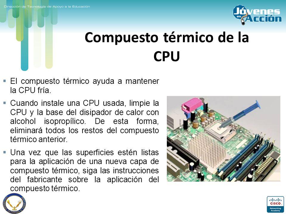 Compuesto térmico de la CPU