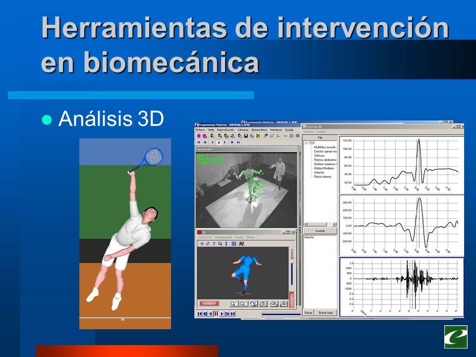 Herramientas de intervención en biomecánica
