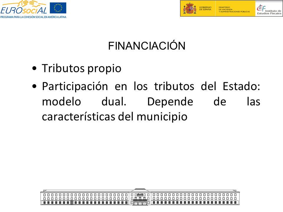 FINANCIACIÓN Tributos propio. Participación en los tributos del Estado: modelo dual.