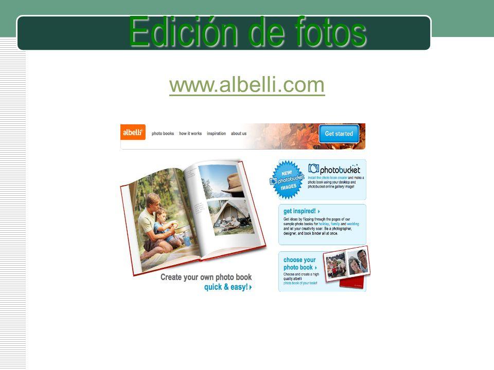 Edición de fotos www.albelli.com
