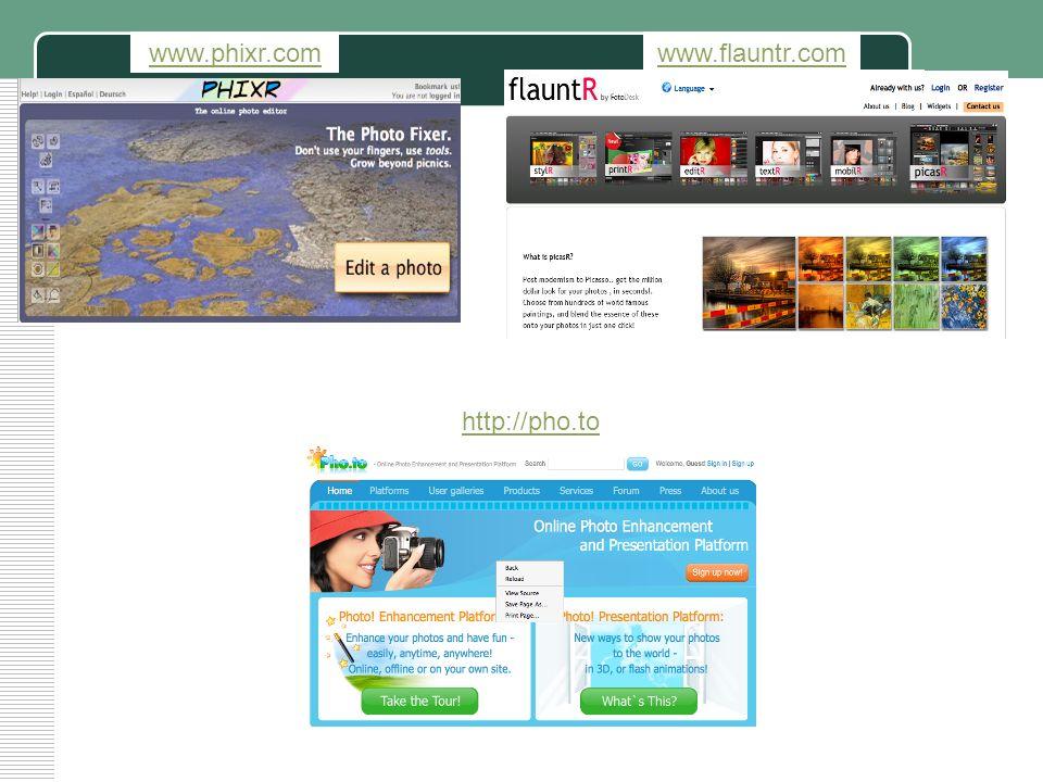 www.phixr.com www.flauntr.com http://pho.to