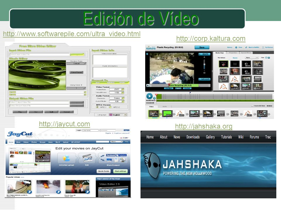 Edición de Vídeo http://www.softwarepile.com/ultra_video.html