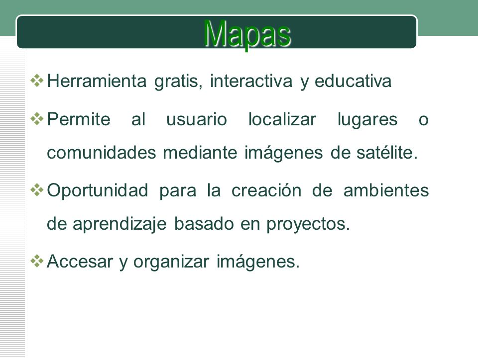 Mapas Herramienta gratis, interactiva y educativa