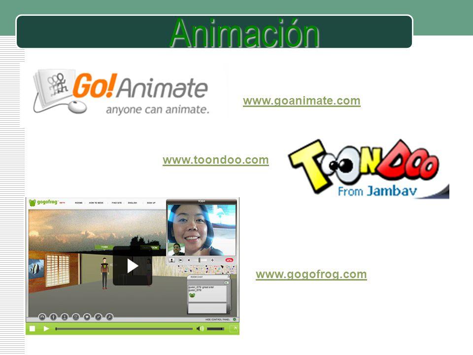 Animación www.goanimate.com www.toondoo.com www.gogofrog.com