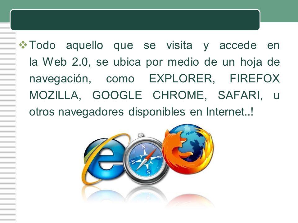 Todo aquello que se visita y accede en la Web 2
