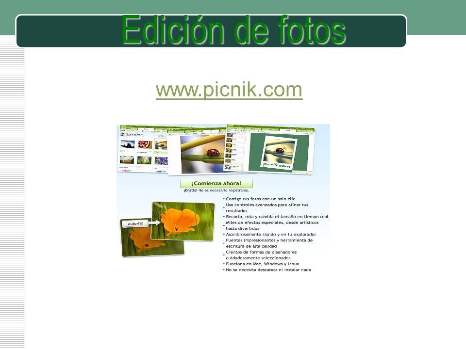 Edición de fotos www.picnik.com