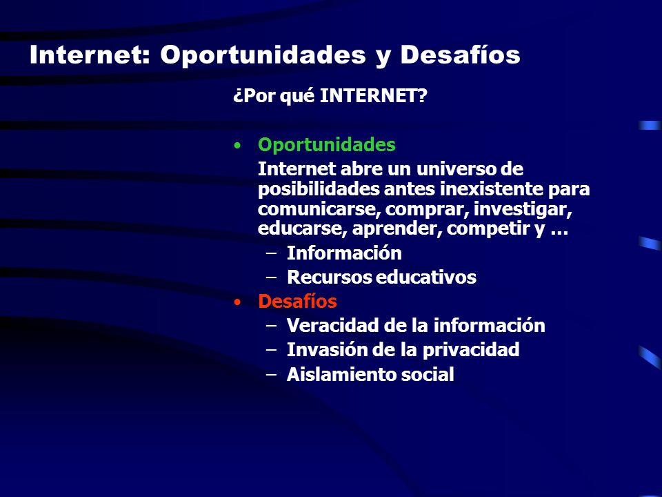 Internet: Oportunidades y Desafíos