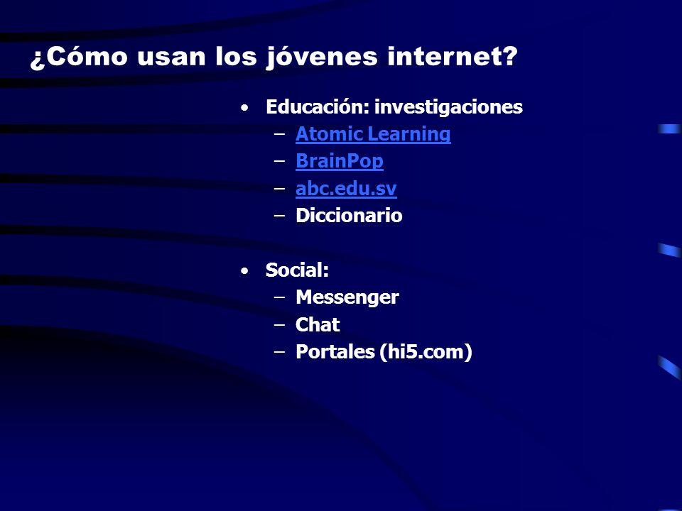 ¿Cómo usan los jóvenes internet