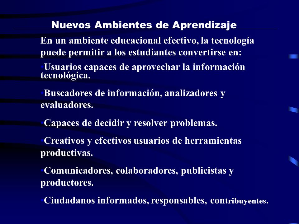 Nuevos Ambientes de Aprendizaje