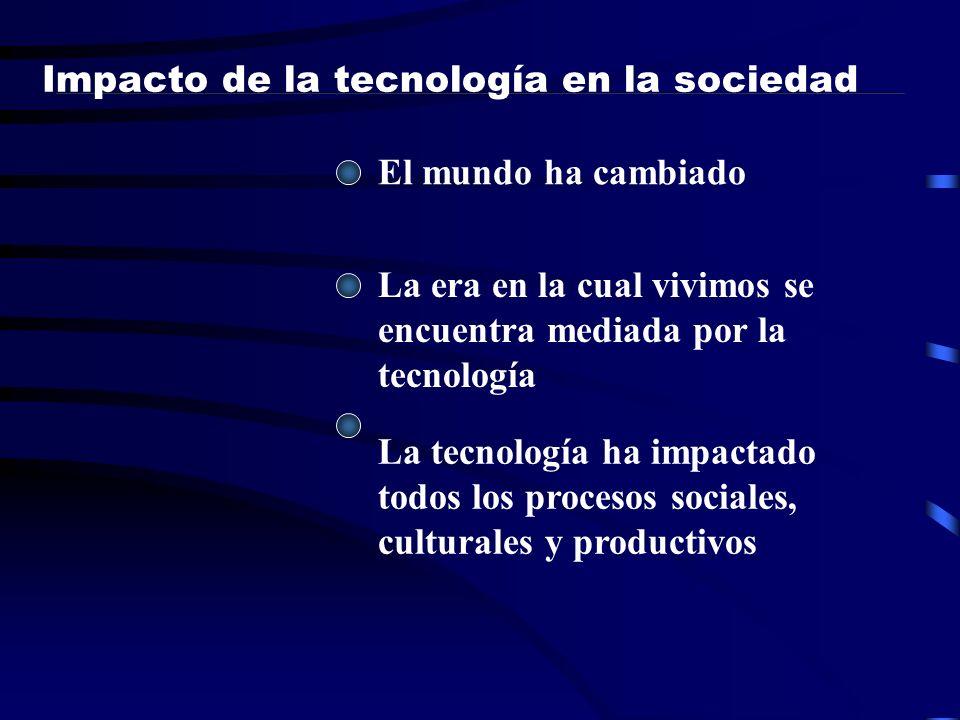 Impacto de la tecnología en la sociedad