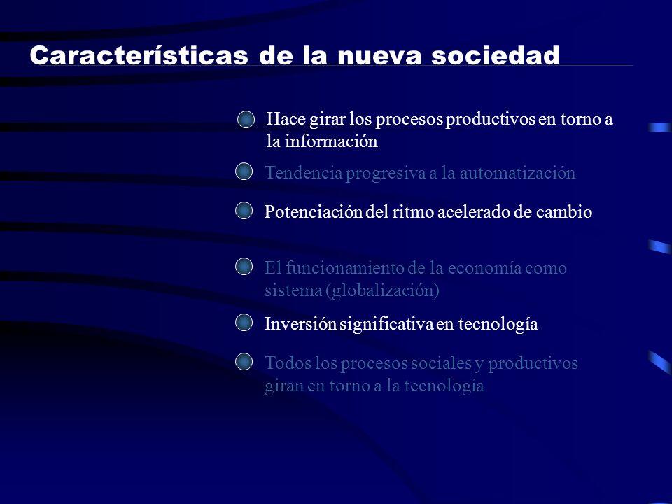 Características de la nueva sociedad