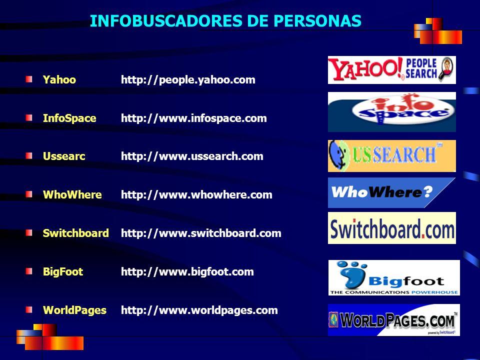 INFOBUSCADORES DE PERSONAS